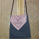 Pink Scarve Denim Bag