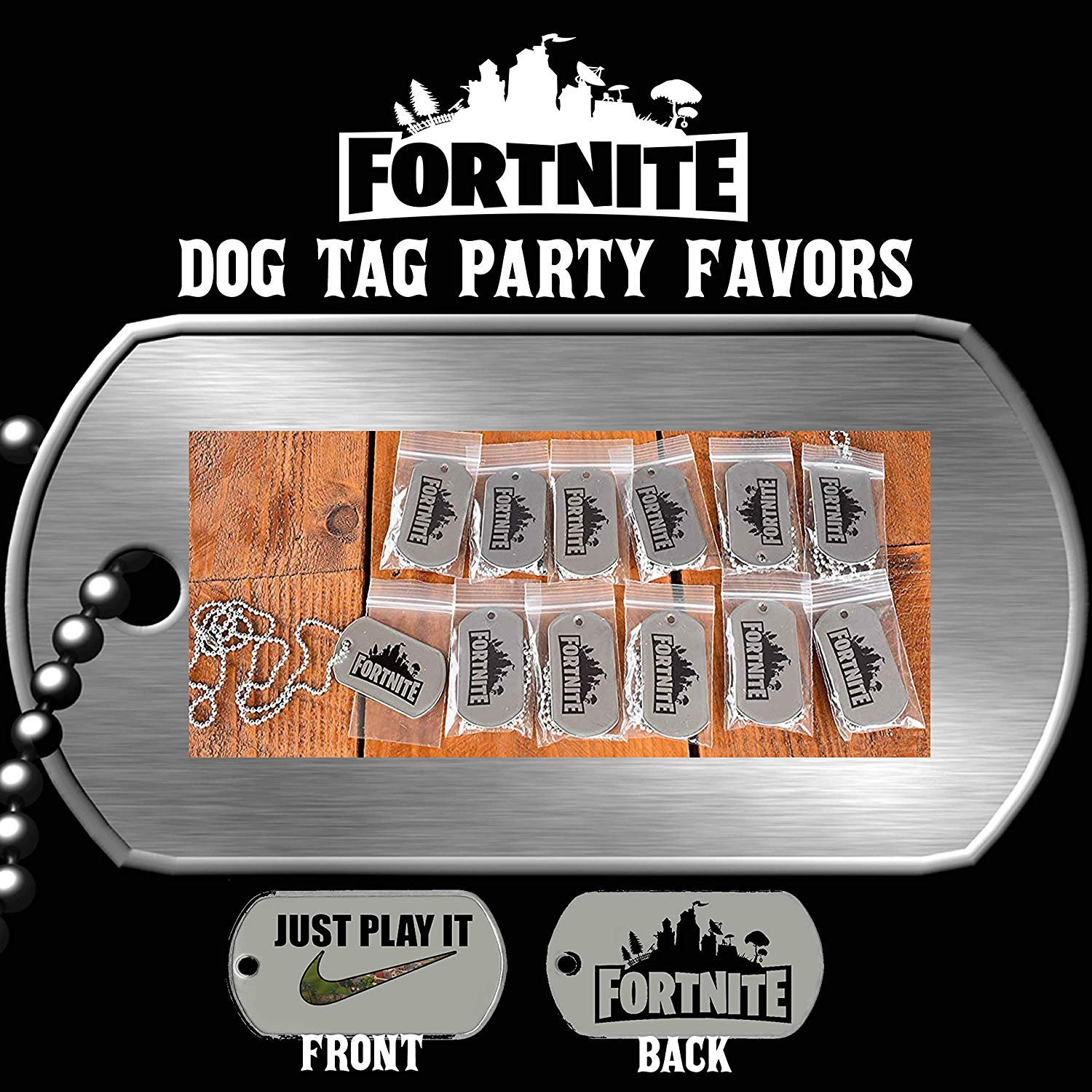 Fortnite Dog Tag Party Favors, Fortnite party favors, Fortnite birthday, Fortnite party supplies