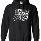 Share The Love Paint Logo Inspired Hoodie, Men, Size L