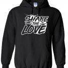 Share The Love Paint Logo Inspired Hoodie, Kids, Years 9-11