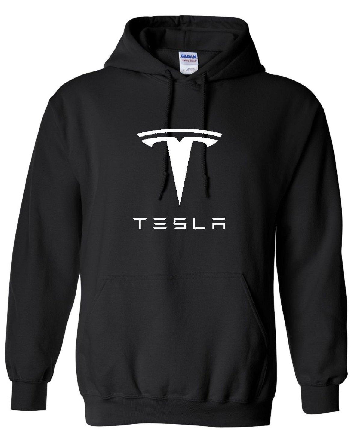 Tesla Motors Car Auto Electric Automobile Inspired Hoodie, Kids, Years 9-11