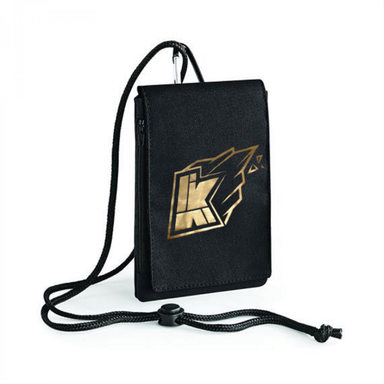 Kwebbelkop logo youtube,  limited edition gold Inspired Bagbase Phone Pouch