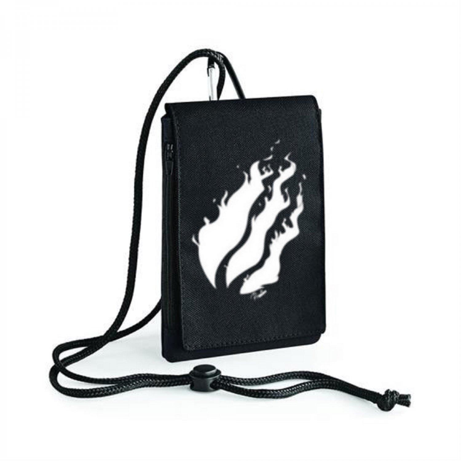prestonplayz White Flame YouTuber Inspired Bagbase Phone Pouch