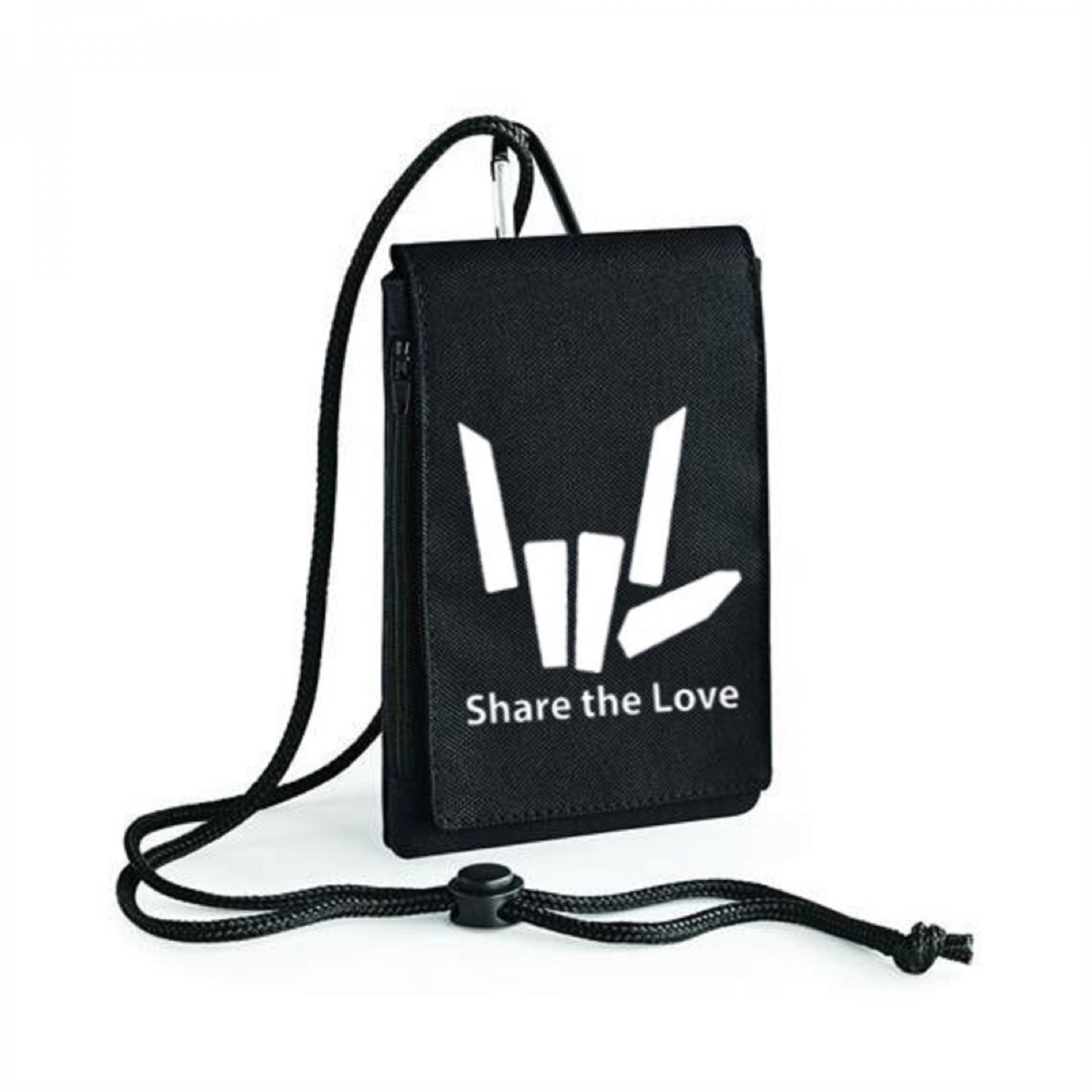 Share The Love Logo 2 Inspired Bagbase Phone Pouch