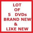 LOT OF 5 ROMANTIC COMEDIES (CHICK FLICKS) DVD MOVIES