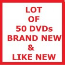LOT OF 50 DVDs! TV SHOWS & MOVIES
