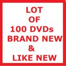 LOT OF 100 DVDs! TV SHOWS & MOVIES!