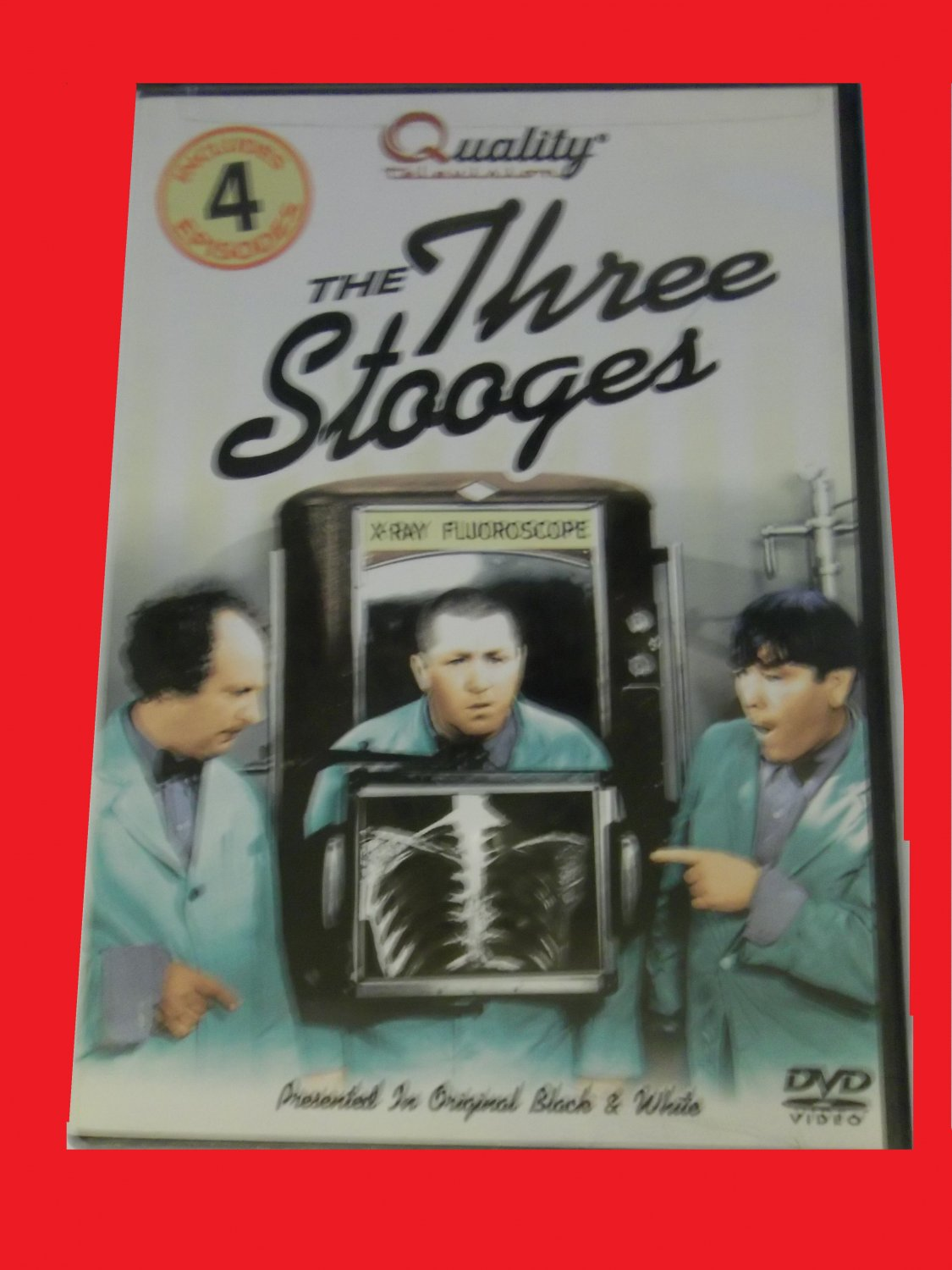 THE THREE STOOGES, 4 EPISODES (FREE DVD & FAST SHIPPING!) MOE, LARRY, CURLY, SHEP (COMEDY)