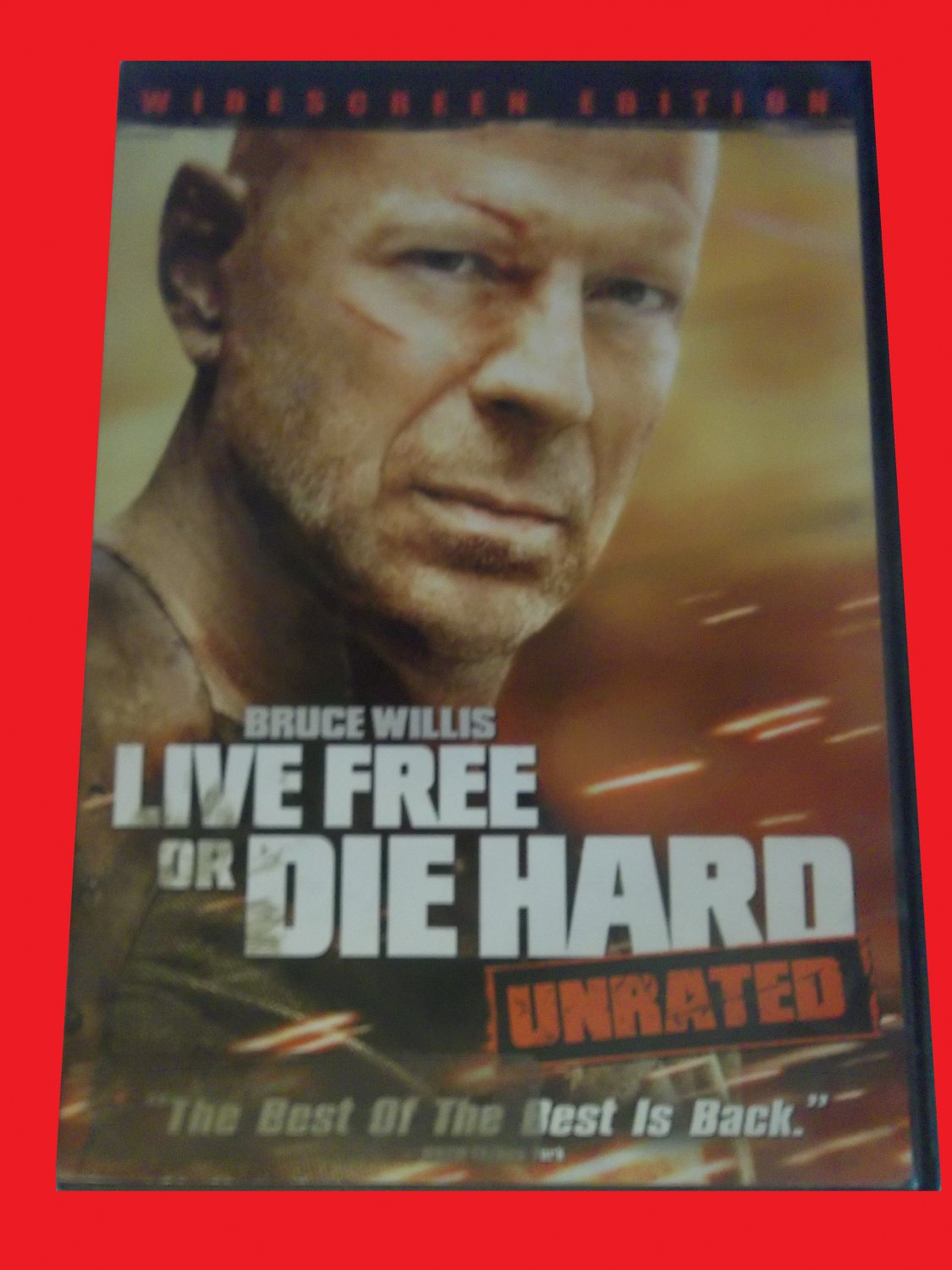 LIVE FREE OR DIE HARD (FREE DVD & FAST SHIPPING) BRUCE WILLIS (ACTION/THRILLER)