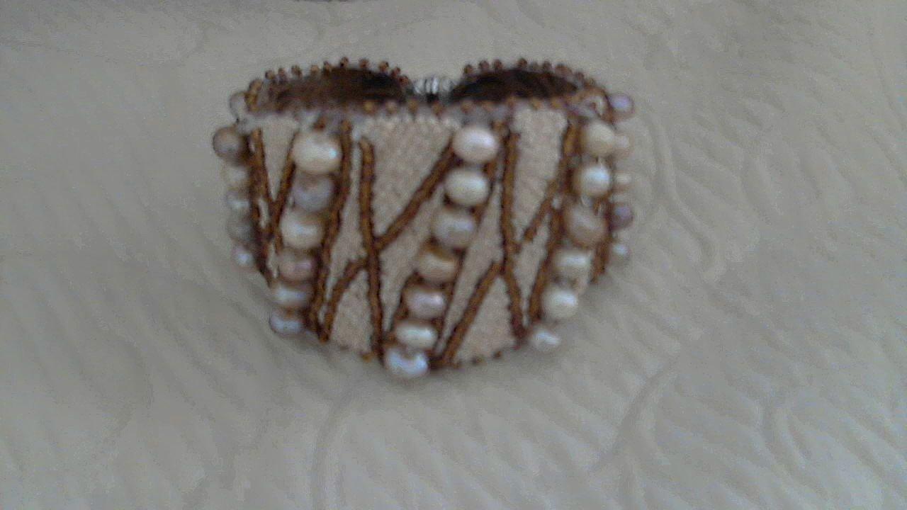 White Lavender Yellow Freshwater Button Pearl Bracelet