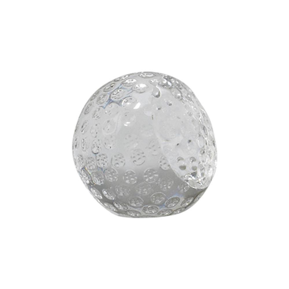 "GLASS GOLF BALL SHAPED PAPERWEIGHT,  2"""