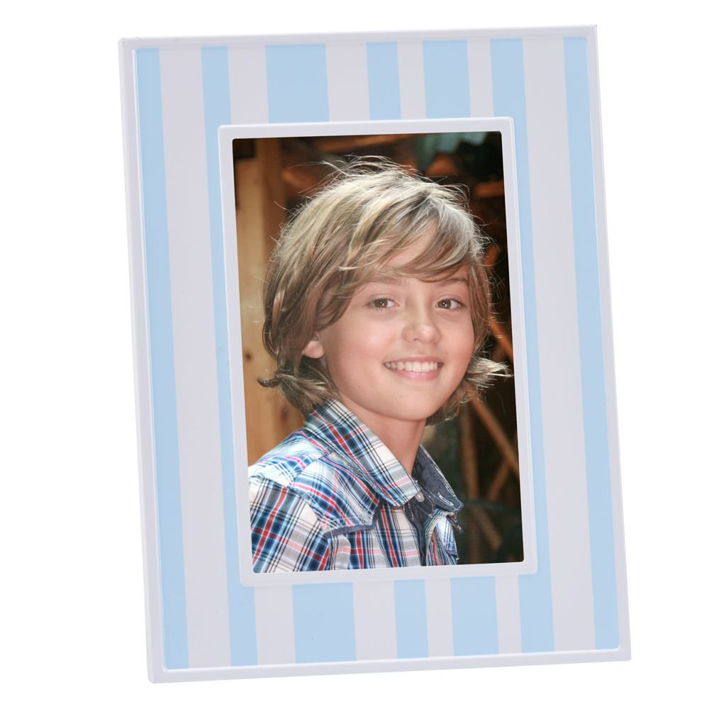 "Blue & White Striped 4"" x 6"" Photo Frame"
