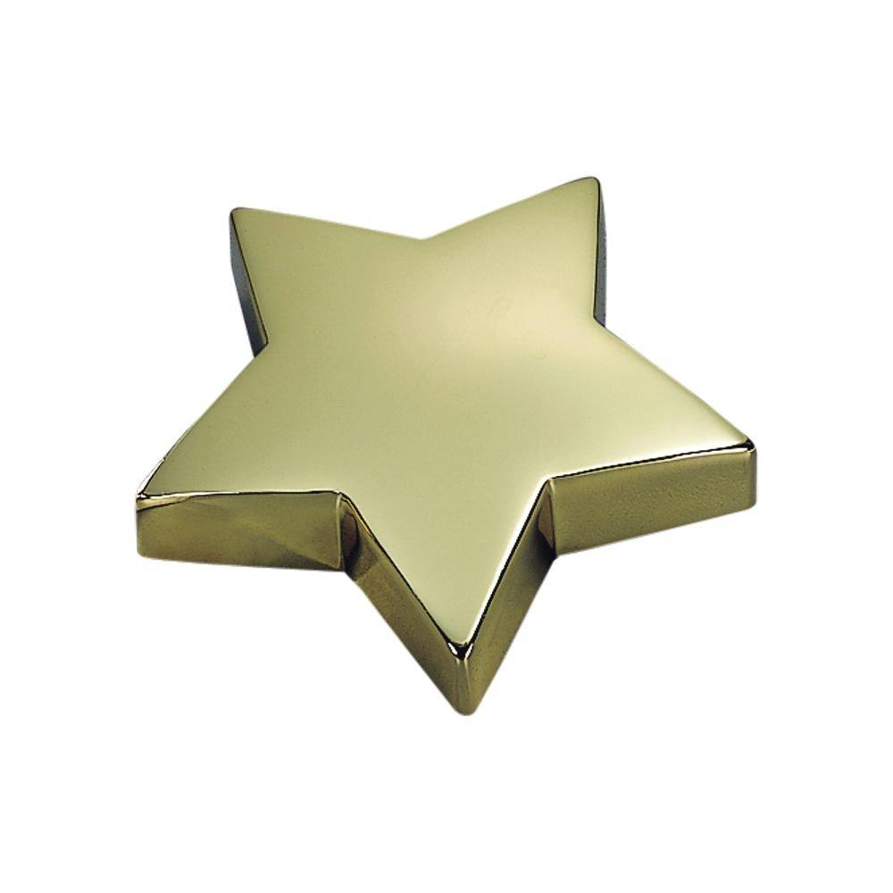STAR SHAPED PAPERWEIGHT IN BRASSPLATE
