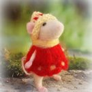 Needle felted mouse Art animal gifts Ready to ship Best handmade love presents