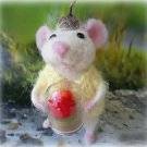 Handmade gifts Needle felted mouse Art animal doll Ready to ship Best presents