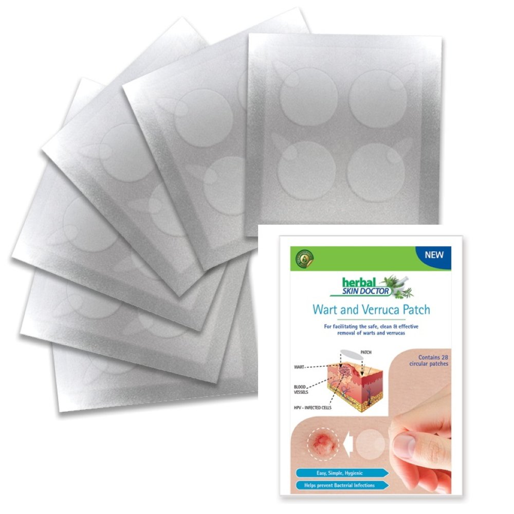 Wart and Verruca Patch Herbal Skin Doctor Easy, Simple, Hygienic, Helps prevent Bacterial Infection