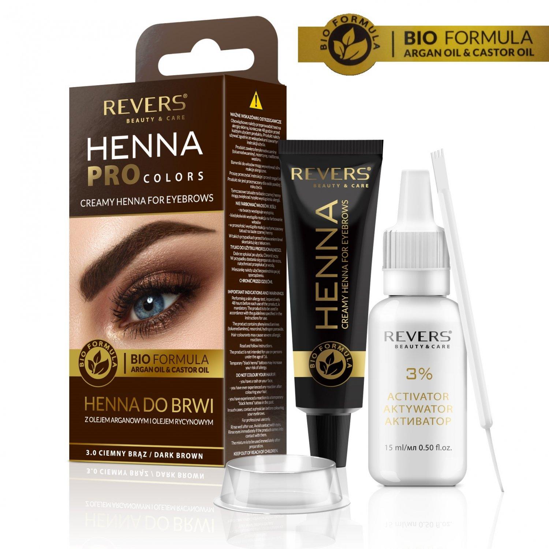 Eyebrow dye Bio Formula Creamy henna with Argan oil & castor oil 3.0 Dark Brown