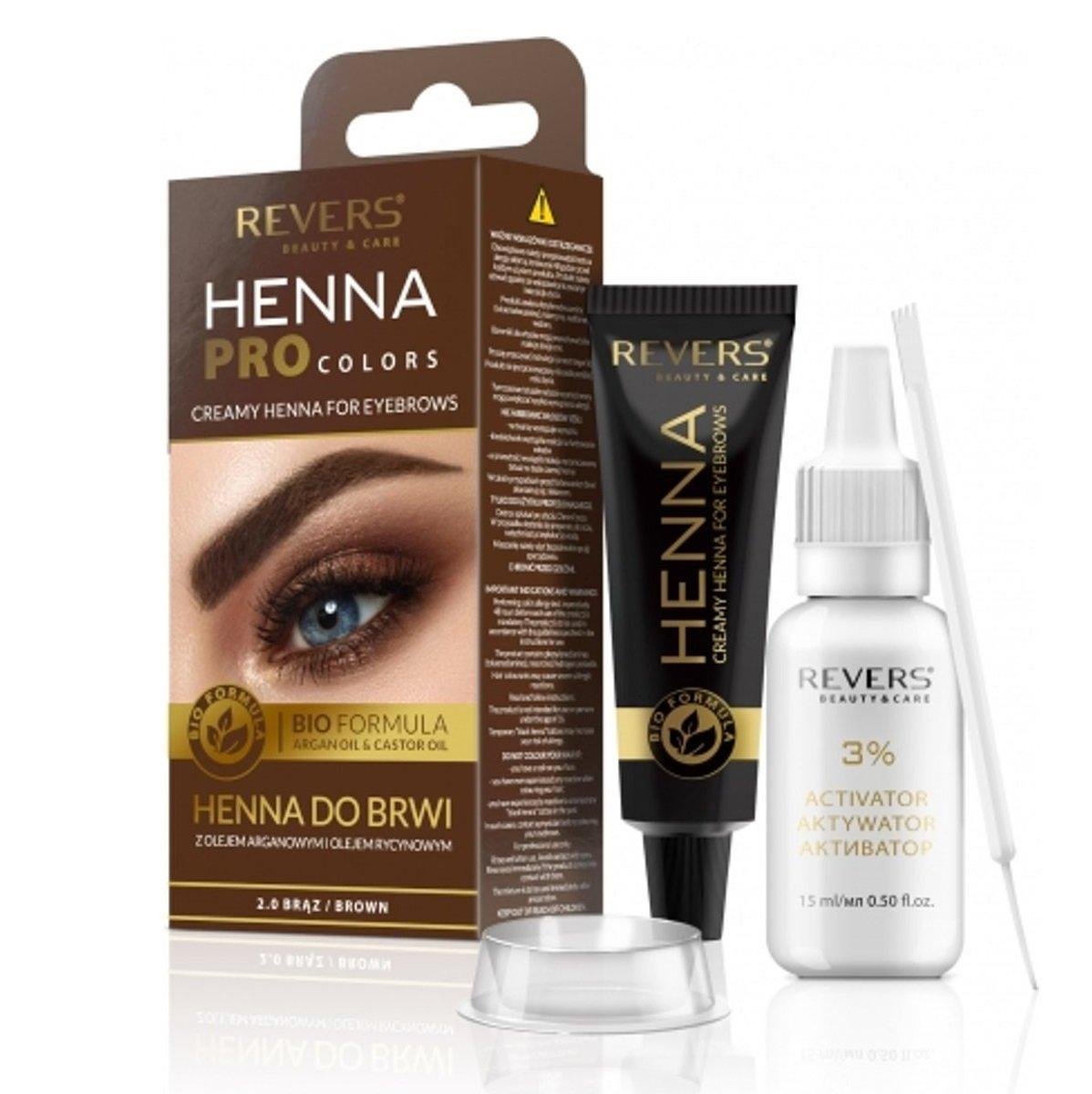 Eyebrow dye Bio Formula Creamy henna with Argan oil & castor oil 2.0 Brown