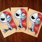 """JACK & SALLY"" GLOSSY STICKER"
