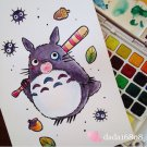 """DADA'S LITTLE TOTORO"" ORIGINAL ARTWORK"