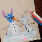 """DO YOU WANT TO BUILD A SNOWMAN"" ORIGINAL ARTWORK"