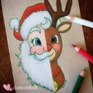 """SANTA & RUDOLPH"" ORIGINAL ARTWORK"