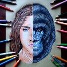 """""""TARZAN & KERCHAK"""" ORIGINAL ARTWORK"""