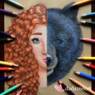 """MERIDA & MAMA BEAR"" ORIGINAL ARTWORK"