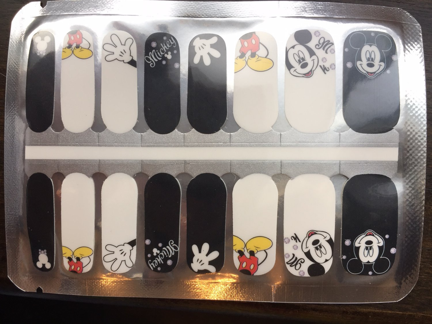 Black & White Mickey Nail Art