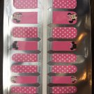 Pink Minnie Nail Art (Kids size)