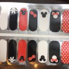 Black White Red Mickey & Minnie Nail Art