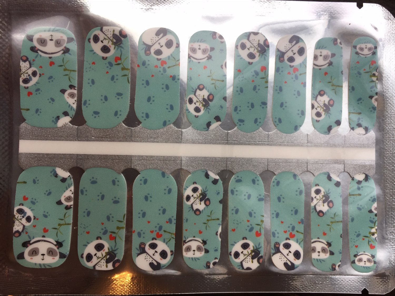 Blue Panda Nail Art