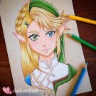 """LEGEND OF ZELDA & LINK"" ORIGINAL ARTWORK"