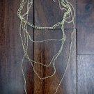 5 tiered chain necklace