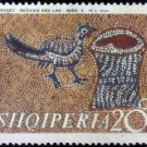 Albania 1970 Bird and Tree Stump Mosaic 20Q