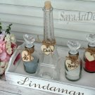 Paris Eiffel Tower Family of 3 Unity Ceremony Sand Set. White Rustic Wedding Ceremony Set.