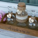 Rustic Wedding Unity Sand Ceremony Set. Personalized Family Sand Ceremony Set for 2 Family Members
