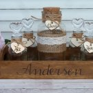 Rustic Wedding Unity Sand Ceremony for 3 Members. Personalized Wedding Ceremony Set.