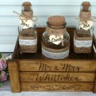 Personalized Rustic Wedding Sand Ceremony Set for 2 Family Members. Customized Sand Ceremony Set.