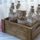Personalized Rustic Wedding Sand Ceremony Set for 4 Members. Customized Sand Ceremony Set.