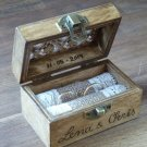 Wooden Ring Bearer Box, Custom Engraved Oriental Carved Rustic Pillow Holder, Wedding Gift.