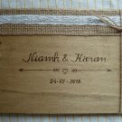 Wooden Wedding Guest Book 70 Sheets. Rustic Guestbook, Customized Wedding Gift.