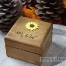 Engagement Ring Box, Rustic Ring Holder. Personalized Wedding Jewelry Box.