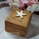 Nautical Engagement Ring Box, Rustic Ring Holder. Personalized Wedding Jewelry Box.