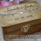Ring Bearer Box. Personalized Wedding Wooden Ring Holder. Floral Custom Ring Box.