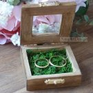 Engagement Ring Box. Rustic Wedding Proposal Box, Glass Window. Wooden, Personalized, Engraved