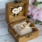 Wooden Ring Pillow Box. Oriental Carved Wedding Ring Holder. Ring Bearer Pillow, Personalized.