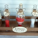 Sand Ceremony Set,  4 Amphora Shaped Bottles, Personalized Wedding Unity Rustic Wedding Gift