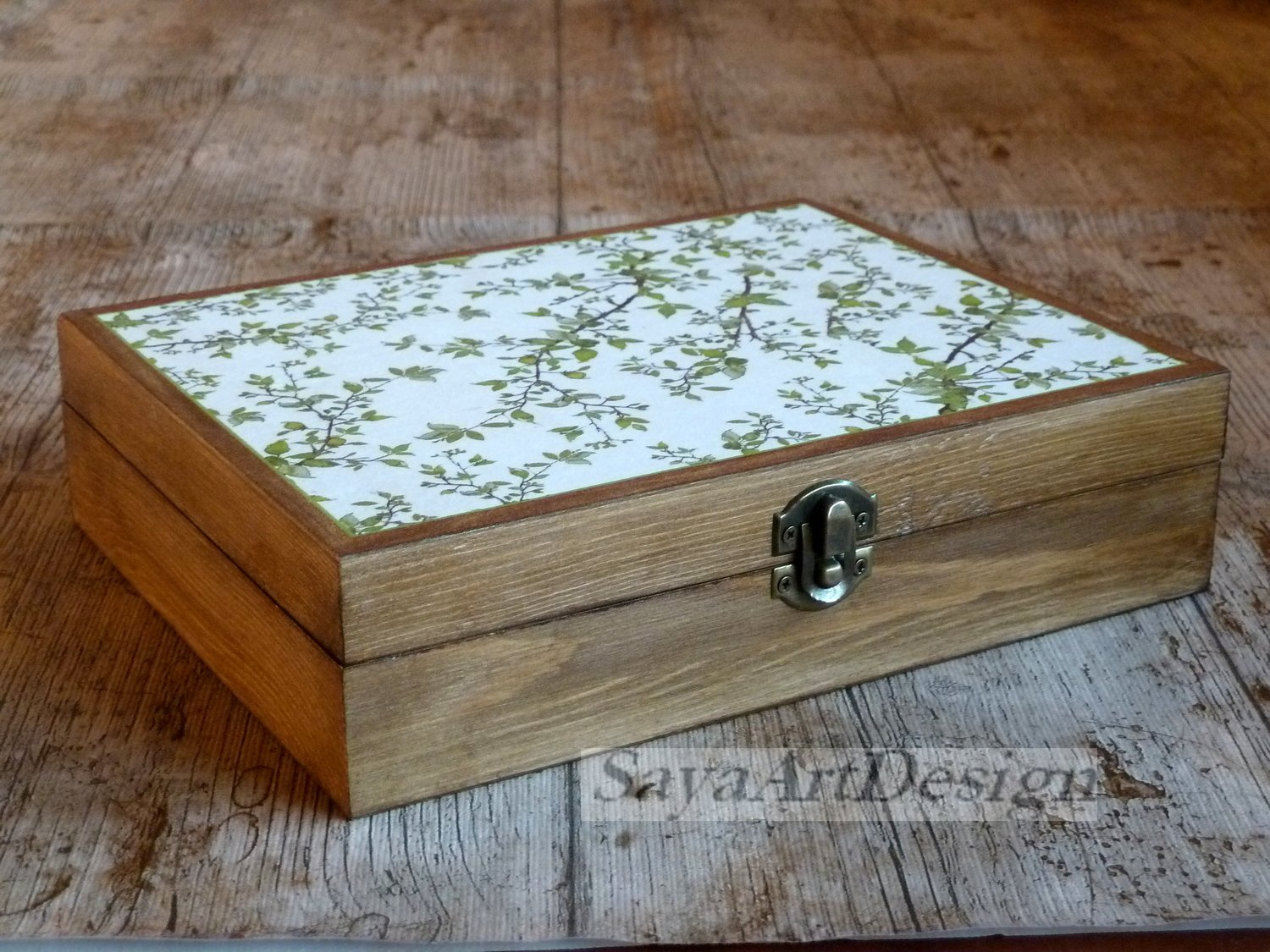 Wooden Tea Box, Tea Storage, Jewelry Box, Gift Ideas.
