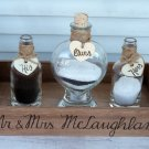 Wedding Sand Ceremony Set, 2 Family Members Unity Set. Heart Shaped Sand Bottle, Wedding gift.